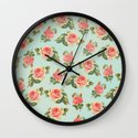 LONGING FOR SPRING- FLORAL PATTERN Wall Clock