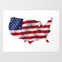 The Star-Spangled American Flag Art Print
