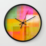 Wall Clock featuring Cover Up 7 by David Mark Lane
