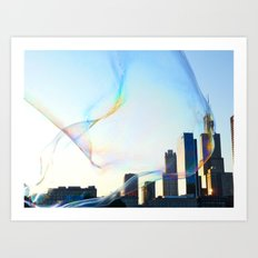 Chicago in a Bubble Art Print
