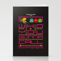 Pacman Ghostbuster Stationery Cards