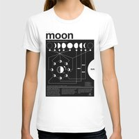 paint T-shirts featuring Phases of the Moon infographic by Nick Wiinikka