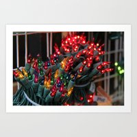 Christmas Lights  Art Print