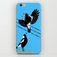 Magpies: learn to fly iPhone & iPod Skin