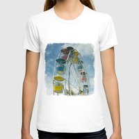 Ferris Wheel Womens Fitted Tee White SMALL