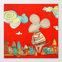 Urban Mouse - Red Canvas Print