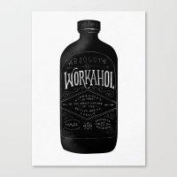 Canvas Print featuring WORKAHOL by Kostyk