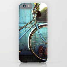 Bluebell the blue bicycle iPhone 6s Slim Case