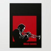 MILES / DAVIS [A Kind of Red][by felixx / 2016] Canvas Print