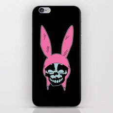 Grey Rabbit/Pink Ears iPhone & iPod Skin