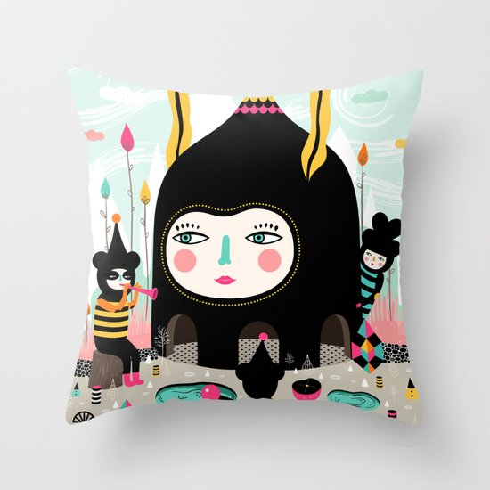 Home is where the happy creatures are! Throw Pillow