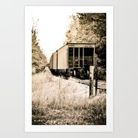 Tracks Of Time Art Print