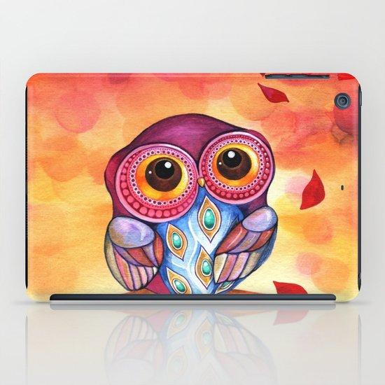 Owl's First Fall Leaf iPad Case