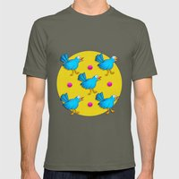 Happy Birds Mens Fitted Tee Lieutenant SMALL