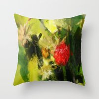 Abstract Berry Throw Pillow