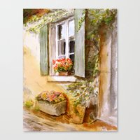 A Window In Hungary Canvas Print