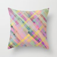 Colorful Square Pattern Throw Pillow