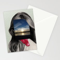 Crazy Woman - Lick me in the moonlight Stationery Cards