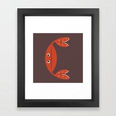 Letter C // Animal Alphabet // Crab Framed Art Print