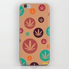 GGDUB - Burnt Orange Weed Leaf Textile~  iPhone & iPod Skin
