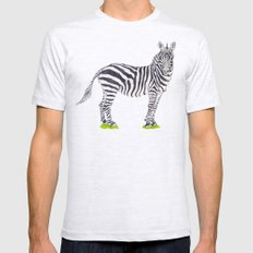 Zebra Sketch Mens Fitted Tee Ash Grey SMALL