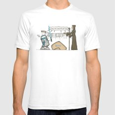King Artoo Mens Fitted Tee SMALL White
