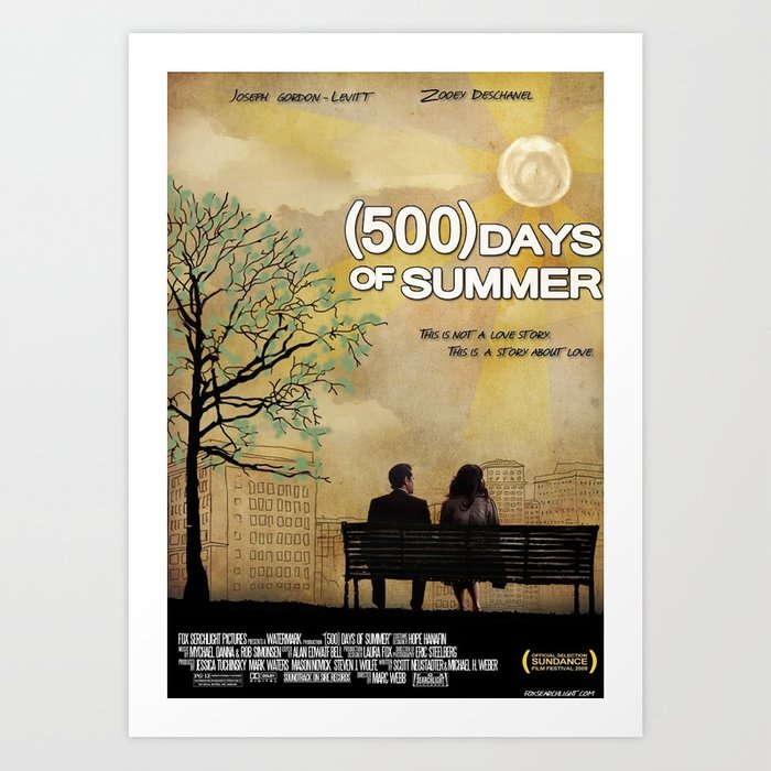 500 Days of Summer Art Print by Josh Goldman | Society6