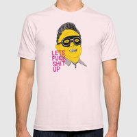 F*ck Sh*t Up Mens Fitted Tee Light Pink SMALL