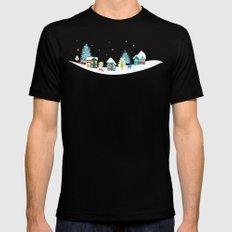 Apres Ski Black Mens Fitted Tee SMALL