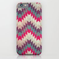 Chevron pattern_purple, blue and pink iPhone 6 Slim Case