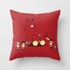 Trojan Piñata Throw Pillow