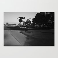Into the Black Canvas Print