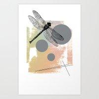 Dragonfly (variant) Art Print