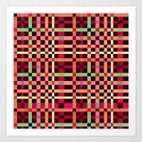 Little Squares Pattern! Art Print