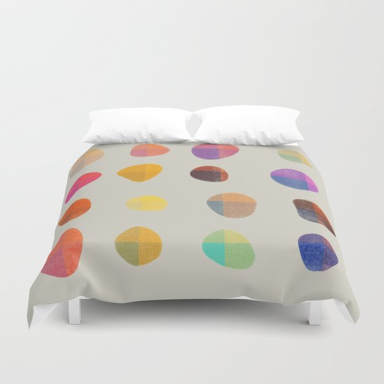 Painted Pebbles 4 Duvet Cover