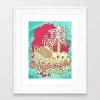 Flesh Illustration Framed Art Print