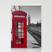 Big Ben and Red telephone box Stationery Cards