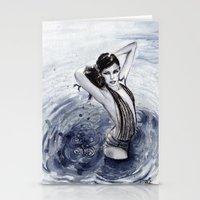 Blue Swim Stationery Cards