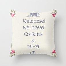 Cookies & Wi-Fi Throw Pillow