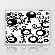 Dots in black and white Laptop & iPad Skin