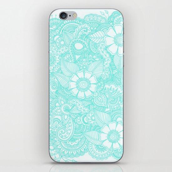 Henna Design - Aqua iPhone & iPod Skin