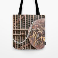 Tote Bag featuring Spray Paint Secret Lover by Julie Maxwell