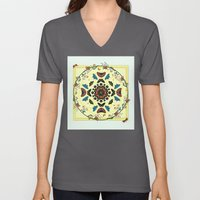 Butterfly Garden Abstract Collage Unisex V-Neck