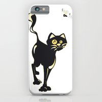 iPhone & iPod Case featuring Cat and Fly by  MaiCat