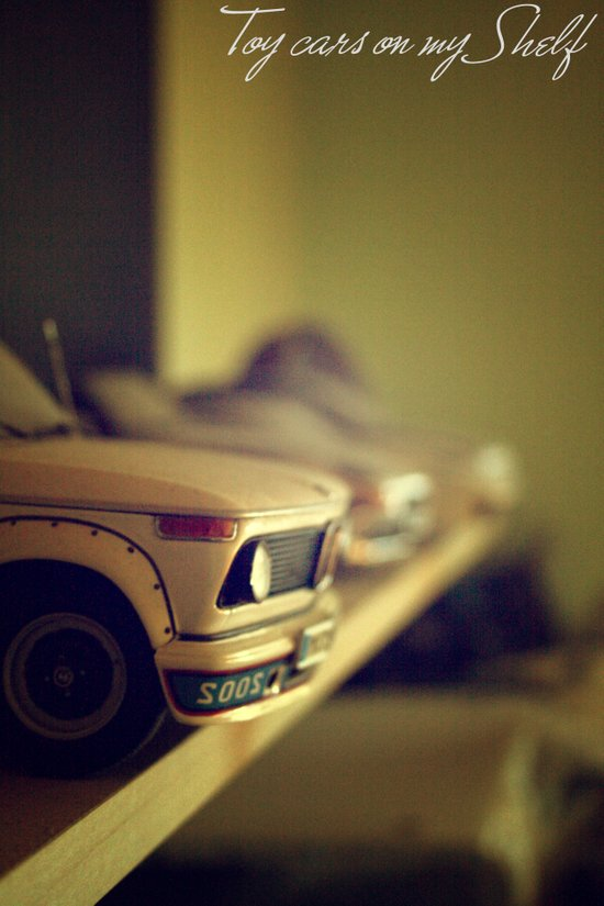 Toy cars on my Shelf Art Print