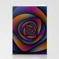 Spiral Labyrinth In Blue… Stationery Cards