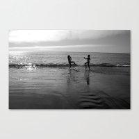 Beach Kung Fu Canvas Print
