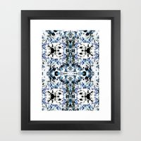 Kaleidoscope Crystals Framed Art Print