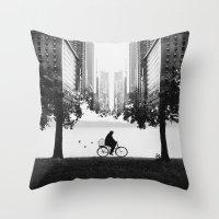 Ride Away Throw Pillow