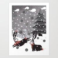 Snow Carnival Art Print